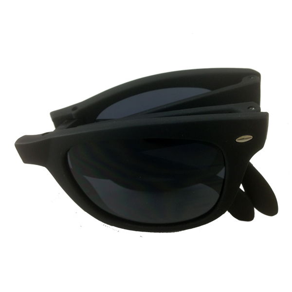Foldable sunglasses with black matte wayfarer design - sunlooper.co.uk - billede 2