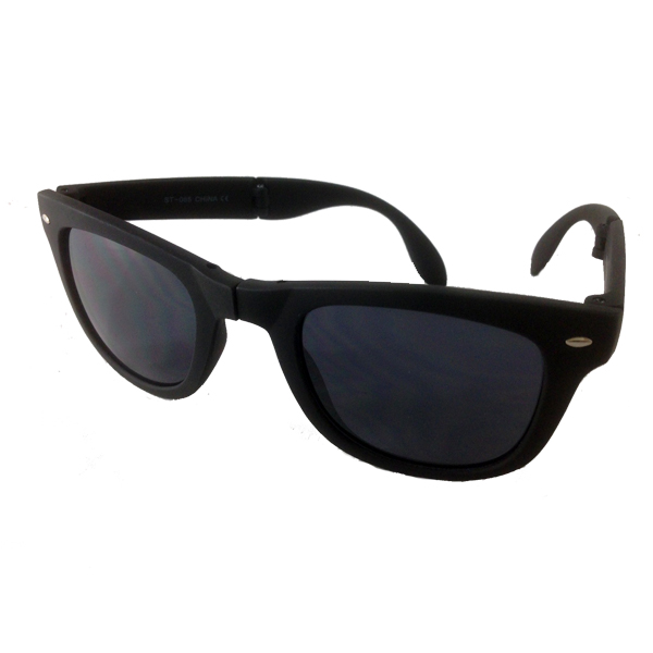 Foldable sunglasses with black matte wayfarer design - sunlooper.co.uk - billede 3