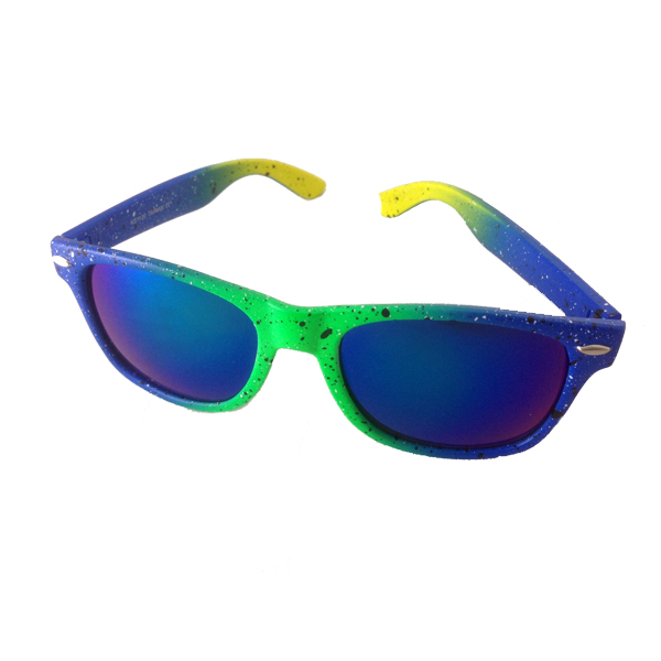 Wayfarer sunglasses with wild neon colours