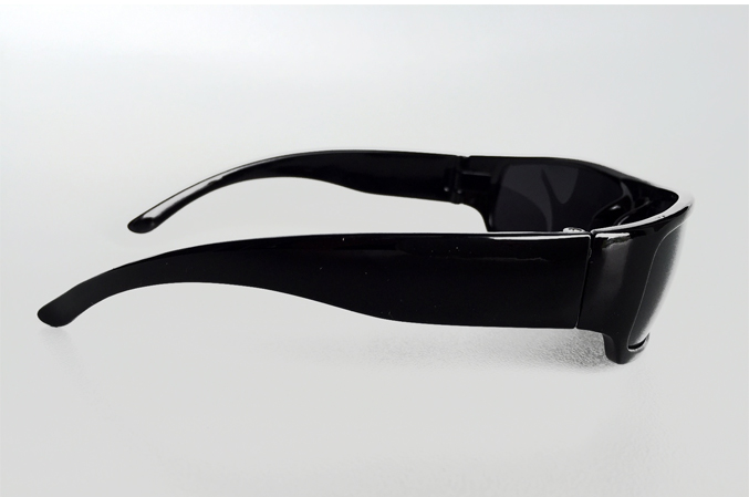 Black masculine sunglasses with raw look - sunlooper.co.uk - billede 3