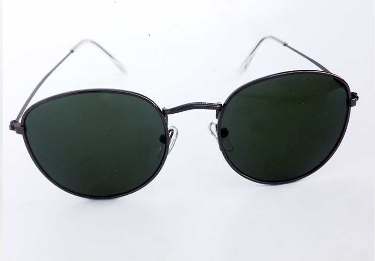 Rund/dråbe solbrille i rayban look
