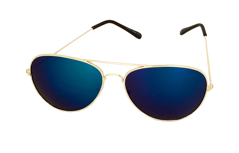 c4b20bc8151f Aviator solbrille med blåt spejlglas