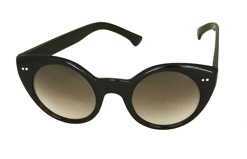 Sort cateye solbrille Vintage look