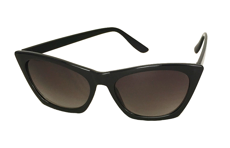 Sort cat eye solbrille med kant - sunlooper.co.uk - billede 2
