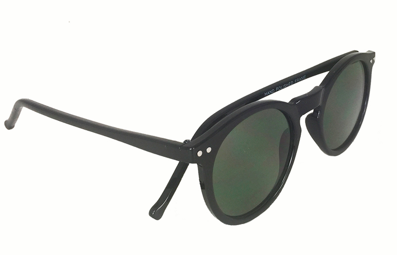 Sort rund modesolbrille i unisex design - sunlooper.co.uk - billede 2