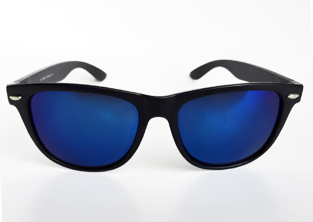 Wayfarer sunglasses with blue lenses - sunlooper.co.uk - billede 3