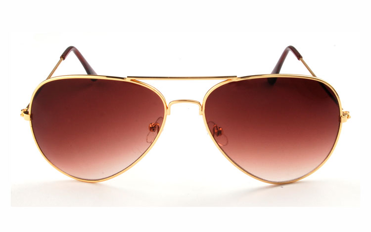 Pilot sunglasses in gold - sunlooper.co.uk - billede 2