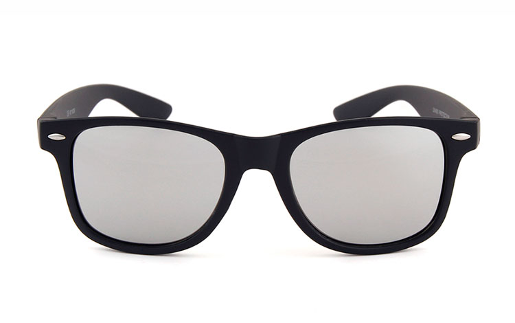 Black wayfarers with mirror lenses - sunlooper.co.uk - billede 2