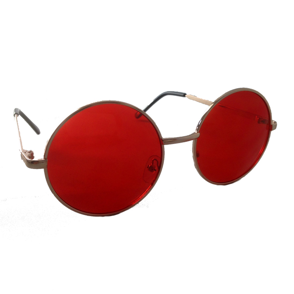 Round Lennon sunglasses with red lenses