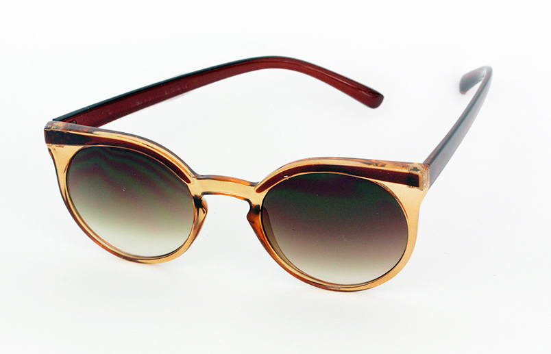 Light brown / orange sunglasses in round design
