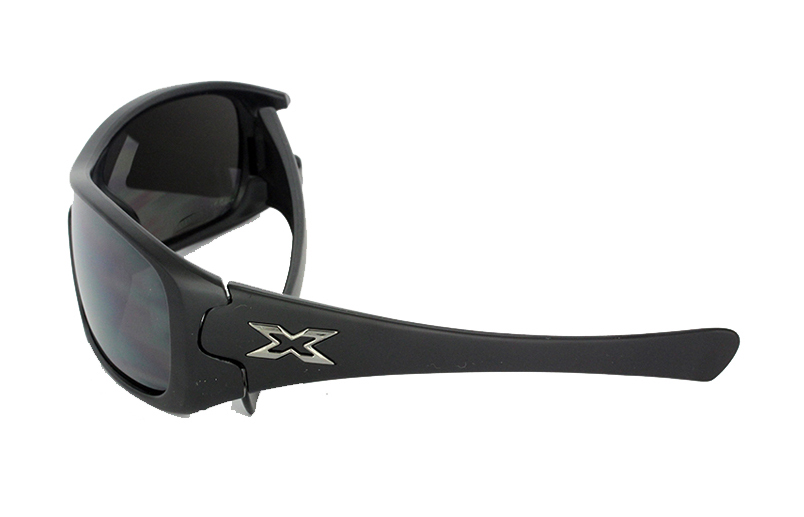 Matte black mens sunglasses in macho design   - sunlooper.co.uk - billede 2