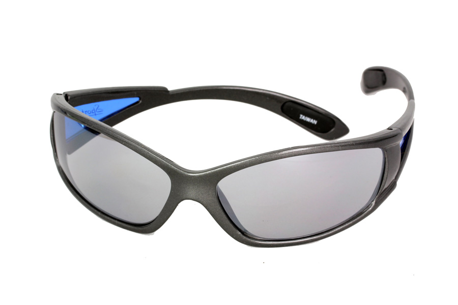 Sports sunglasses with blue arms