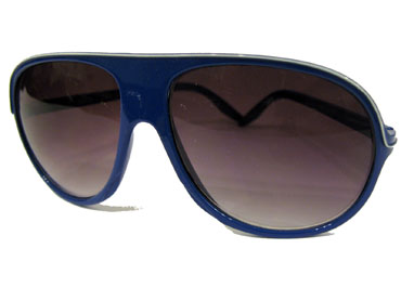 Blue trucker sunglasses