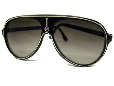 Cheap black aviators / truckers with white stripe
