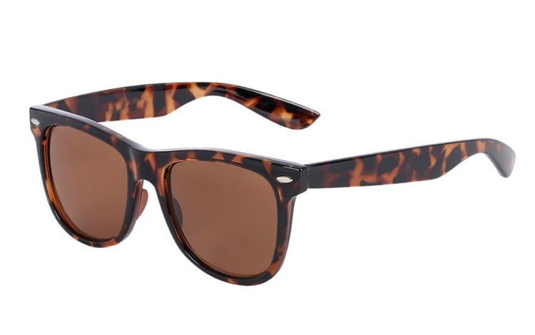 Wayfarer with brown lenses
