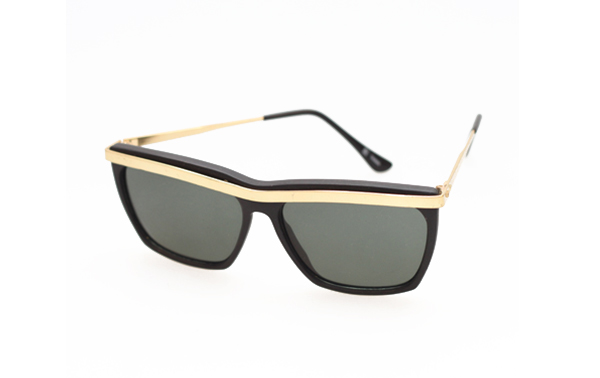 Black sunglasses with gold details