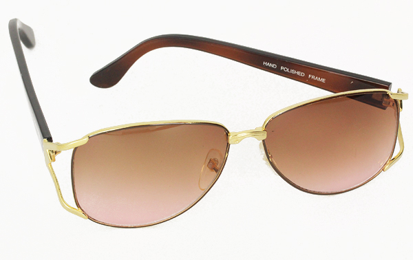 Feminine metal sunglasses