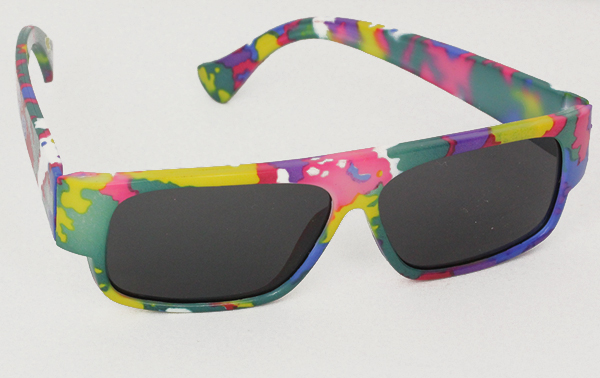 Colourful kids sunglasses with UV protection, fits 1-3 years