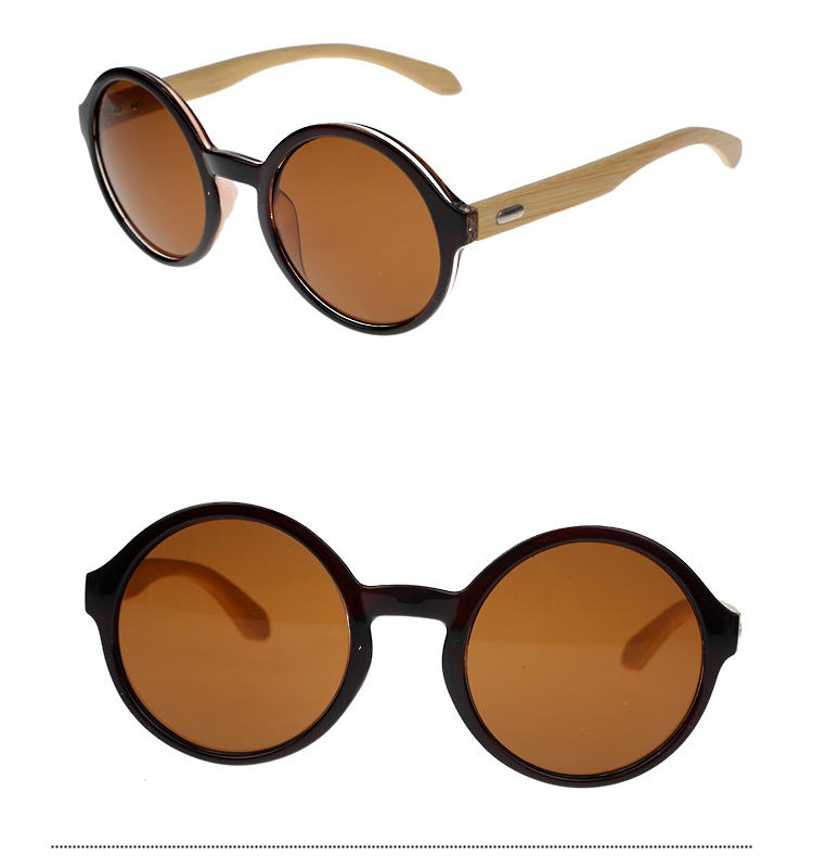 Round sunglasses with bamboo - sunlooper.co.uk - billede 3