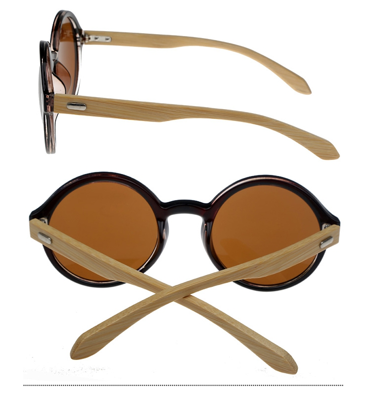 Round sunglasses with bamboo - sunlooper.co.uk - billede 2
