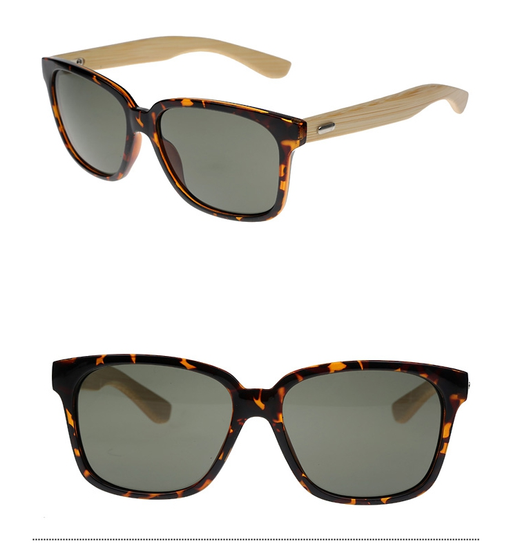 Tortoiseshell wayfarer sunglasses with handmade bamboo arms. - sunlooper.co.uk - billede 3