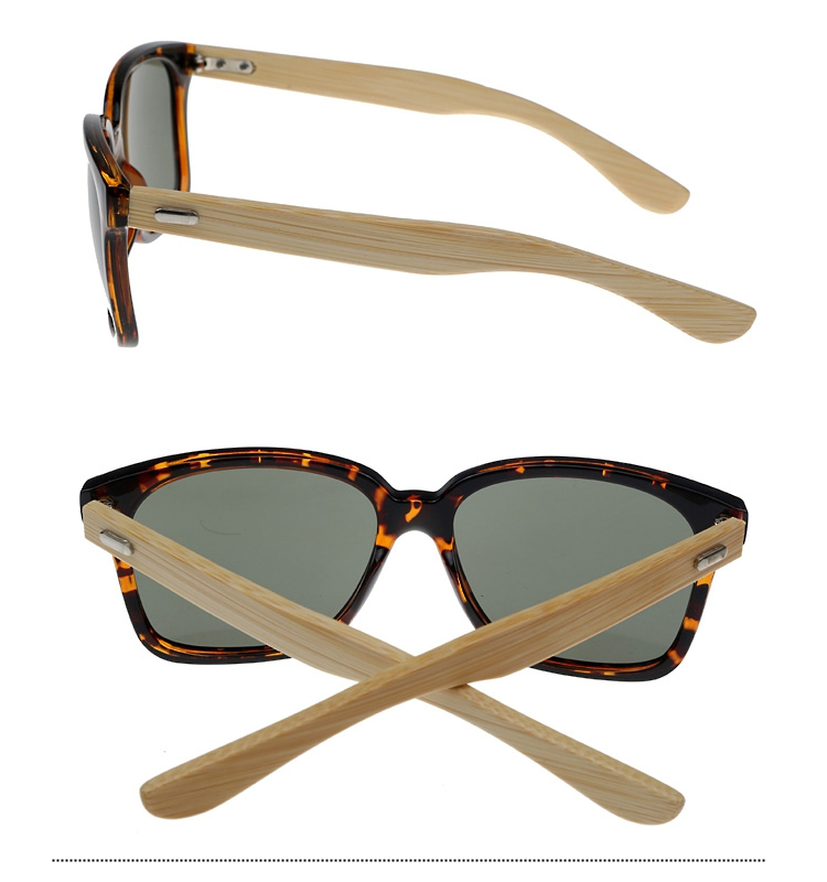 Tortoiseshell wayfarer sunglasses with handmade bamboo arms. - sunlooper.co.uk - billede 2