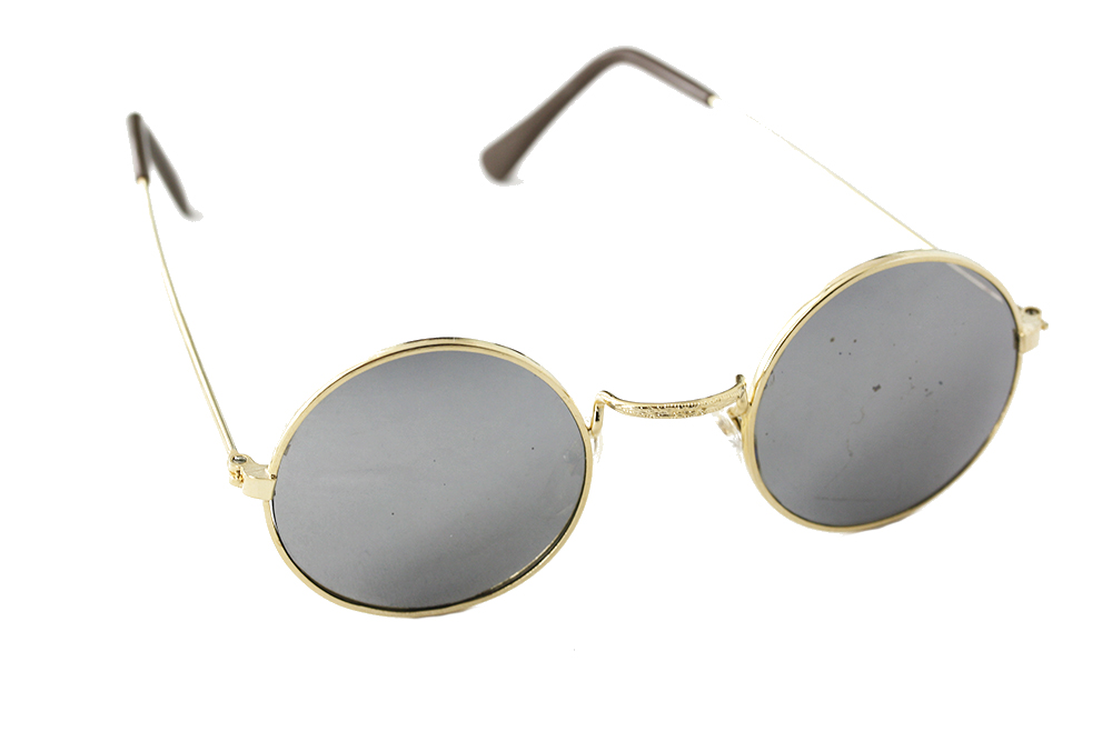 Round sunglasses with mirror lenses