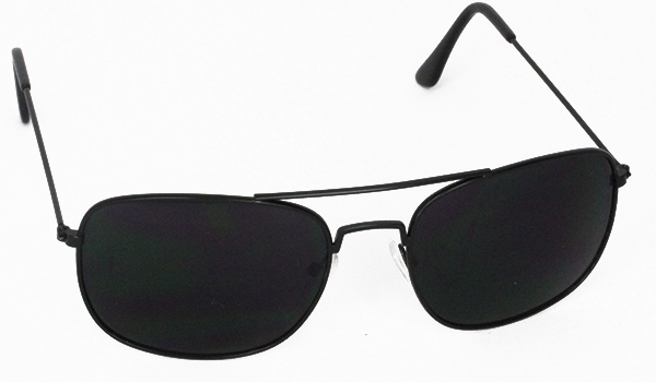 Black aviator with square design