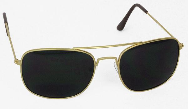 Gold a la randolph aviator sunglasses.