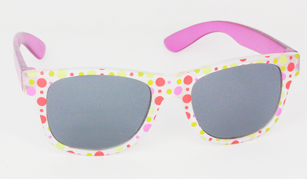 Matte sunglasses for kids with polkadots