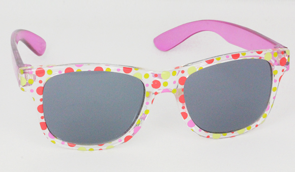 Sunglasses for kids with pink rods