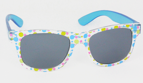 seethough sunglasses with polkadots