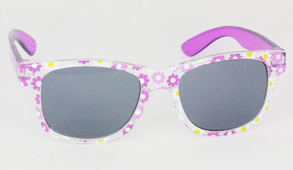 Girls sunglasses with flower patterns
