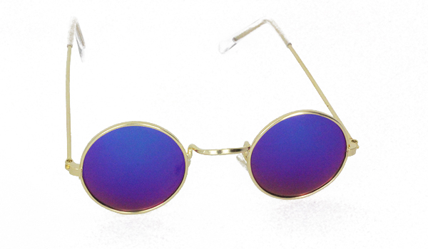 Gold metal sunglasses for kids