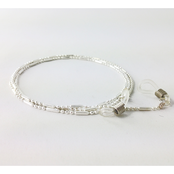 Beautiful silver glasses cord for women