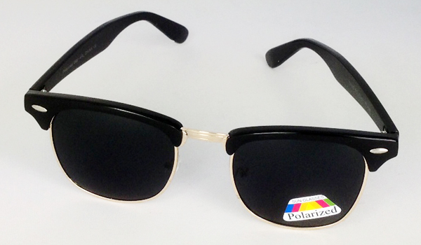 Black clubmaster polaroid sunglasses