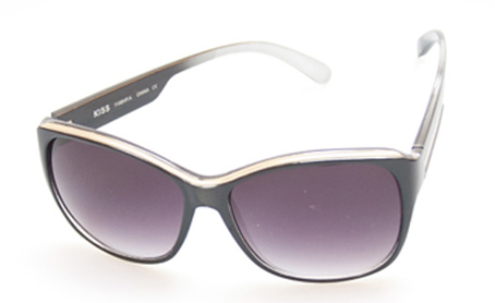 Cat eye sunglasses in metal