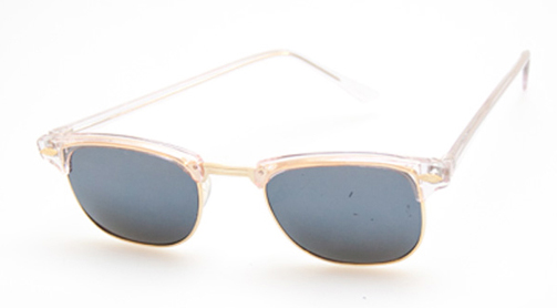 Clubmaster with rose shades