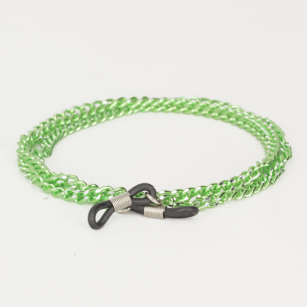 Green glasses chain in metal