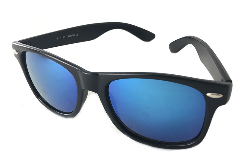 Wayfarer sunglasses with blue lenses - sunlooper.co.uk - billede 2