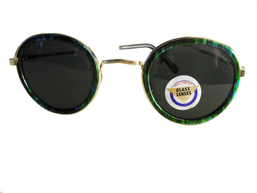 Cool round sunglasses with green edge - sunlooper.co.uk - billede 2