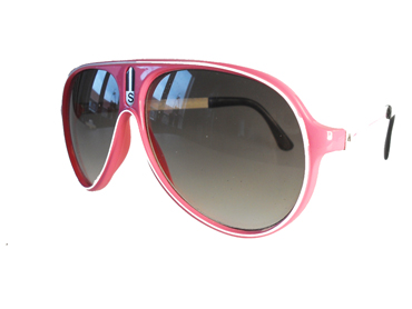 Pink aviator with white line