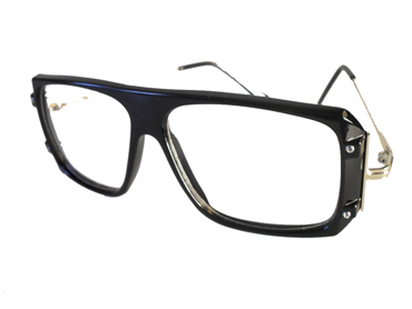 Black non-prescription glasses