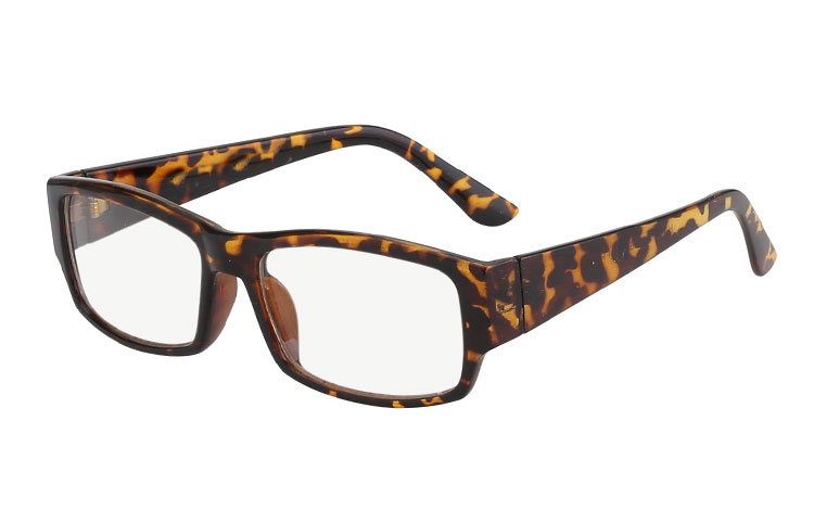 Brown non-prescription glasses
