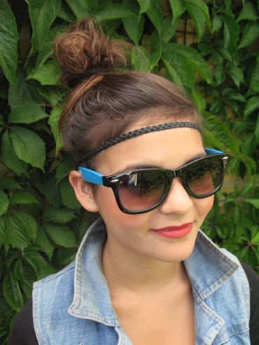 Black and blue wayfarer - sunlooper.co.uk - billede 2