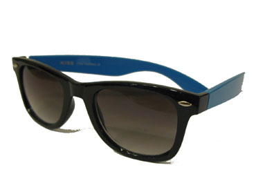 Black and blue wayfarer