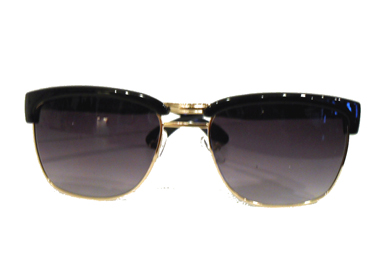 Clubmaster-sunglasses in metal with black