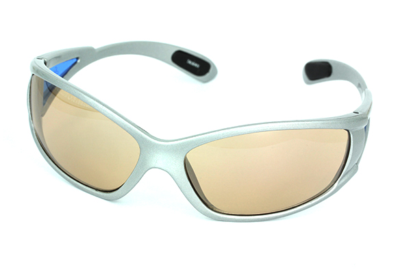 Sports glasses with gold lenses