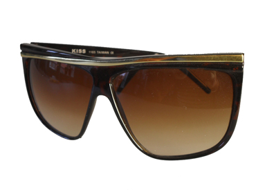 Dark brown asymmetrical sunglasses
