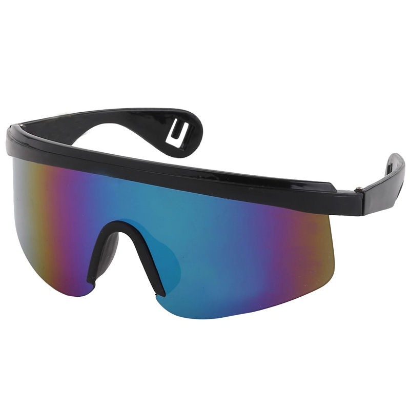 Ski sunglasses with multicoloured lenses
